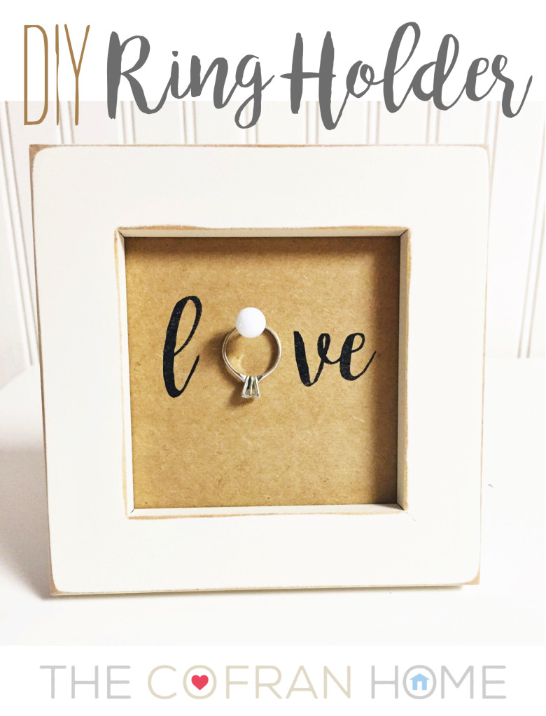 Diy ring holder the cofran home for Love picture ideas